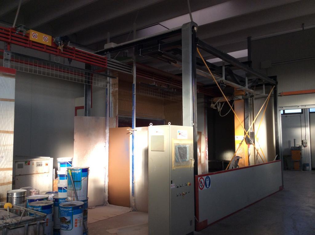 Impianto di verniciatura automatico per serramenti